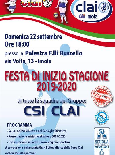 FESTA DI INIZIO STAGIONE