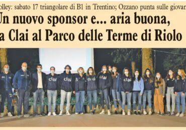 Un nuovo sponsor e... aria buona, la Clai al Parco delle Terme di Riolo