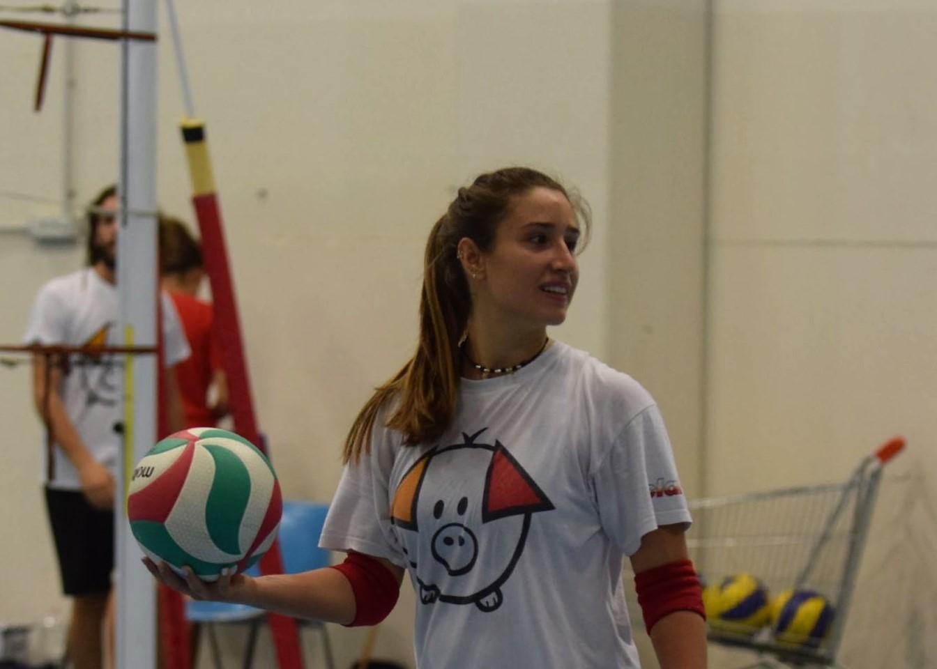 Greta Telarini nel ruolo di secondo libero in Serie B1